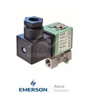 "0.25"" BSPP E262K184S1N01FL Asco General Service Solenoid Valves Direct Acting 24 VAC Brass"