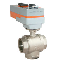 3 Way Electric Actuated Spring Return Ball Valve Multiport Brass Body