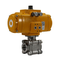 Heavy Duty Stainless Steel Actuated Ball Valves Elomatic Actuators