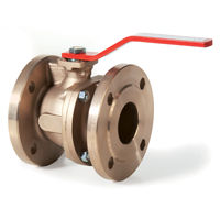 Flanged PN16 Bronze Ball Valves Lever Operated Direct Mount Full Bore