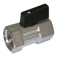 Screwed BSPP Brass Mini Ball Valves Short Handle Nickel Plated