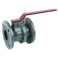 Flanged PN16 Ductile Iron Ball Valves Lever Operated 2 Piece Full Bore