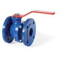 Flanged PN16 Ductile Iron Ball Valves Lever Direct Mount RPTFE Seats