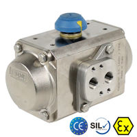 Air Torque Stainless Steel Rack & Pinion Actuator A182 F316 Atex SIL3
