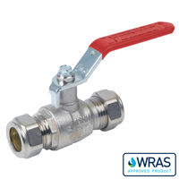 Compression Ends Brass Ball Valves Lever Operated Wras Approved