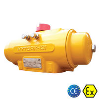 Hytork XL Pneumatic Actuator Yellow Aluminium Body Rack And Pinion