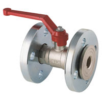 Flanged PN16 Brass Ball Valves Lever Operated Nickel Plated Full Bore