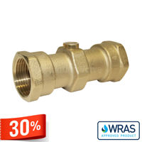 Screwed BSPP Brass Double Check Valves Wras Approved Drinking Water