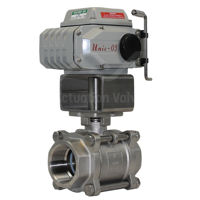 Screwed Stainless Steel Koei Electric Actuated Ball Valve Full Bore