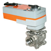 Spring Return Electrically Actuated Ball Valve Stainless Steel FB 3PCE