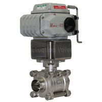 Weld Ends Hygienic SS Electric Actuated Water Valves Motorised Ball FB