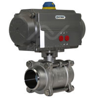 Weld Stainless Air Actuated Water Valves Full Bore Kingdom SIL Rated