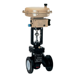 1B PN16 Rated PFA Lined Globe Control Valves With Exchangeable Seat