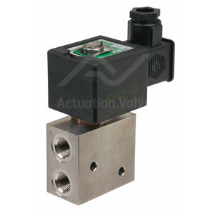 "1/4"" Asco Solenoid Valves NF8327B102MO Push Button SS 3/2 Universal"