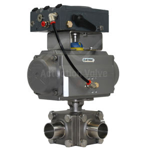 3-Way Hygienic Cavity Filled Advanced Flow Control Ball Valves 4-20mA