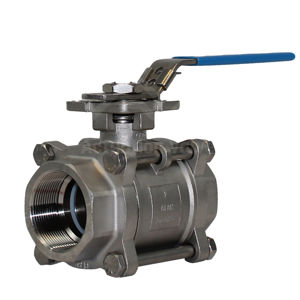 3PCE Full Bore Stainless Steel Atex Approved SIL Rated Ball Valve Lever