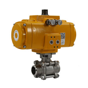 Butt Weld Stainless Steel Elomatic Air Actuation Ball Valves Full Bore