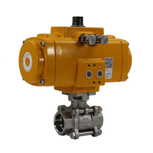 Socket Weld Stainless Steel Air Actuated Ball Valves FB Elomatic Atex
