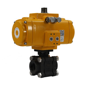 Weld Heavy Duty Carbon Steel Actuation Valve Elomatic ATEX Full Bore