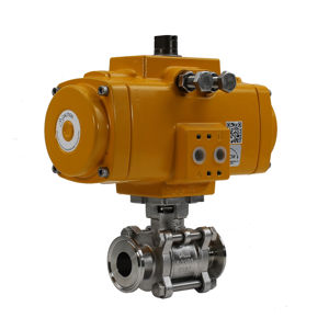 Tri Clamp Hygienic Stainless Steel Actuation Ball Valve Elomatic 3PCE