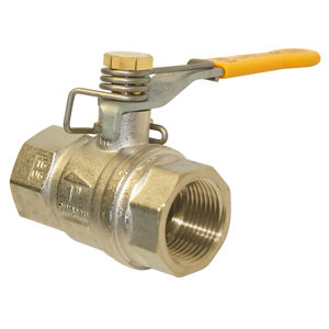 Screwed Brass Ball Valves Spring Close Dead Mans Lever Handle PN40