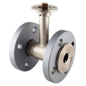 Flanged PN16 Brass Ball Valves Bare Shaft Direct Mount Extended Neck