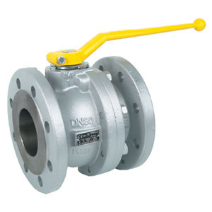 Flanged PN16 Ductile Iron Ball Valves Lever DIN 3202 F4 Gas Approved