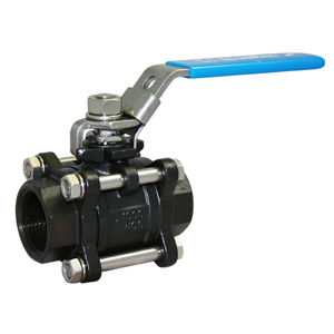 Screwed BSPP Carbon Steel Ball Valves Lever OP 3PCE Full Bore Atex