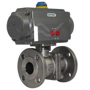 Flanged PN16 Stainless Steel Pneumatic Actuated Ball Valve 2 PCE FB