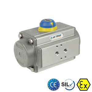 Air Torque Pneumatic Actuator Aluminium Body SIL Atex Rack And Pinion