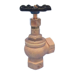 Angle Pattern Bronze Screwed BSPP Globe Valves PTFE Seat PN16