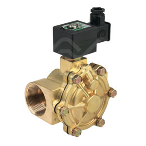 "1 1/4"" BSPT Asco Solenoid Valves SCE210D018 Brass Body And Seat 2 Way"