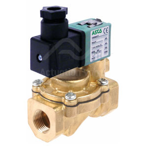 "1/2"" BSPT SCE210D002V Asco FPM Viton Shut Off Valve Brass Body Two Way"