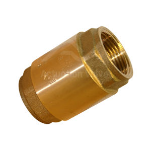 Brass Body Spring Check Valves Body NBR Gasket Metal Or Acetal Disc