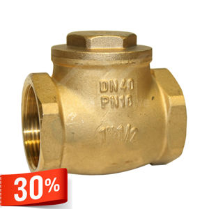 Brass Body Swing Type Check Valves Screwed BSPP Metal & Rubber Seat