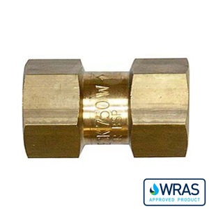 Brass Single Check Valve Wras Approval BSPP Female Max Pressure 10 BAR