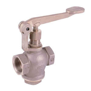 Bronze Self Closing Lever Operated Screwed Globe Valves Steel Spring