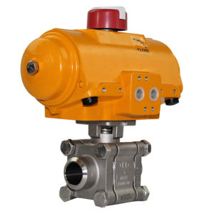 Butt Weld Heavy Duty Stainless Steel Actuated Ball Valves Hytork Atex