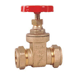 Compression Ends Brass Gate Valves Handwheel Operated BS5154