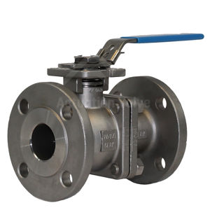 DIN PN40 Stainless Steel Full Bore 2 Piece Ball Valves Lever OP PTFE