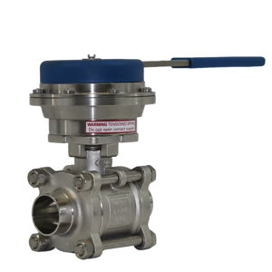 Dead Mans Handle Spring Return Lever Operated Ball Valve Hygienic Weld