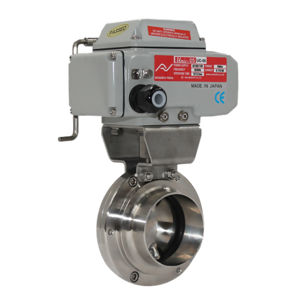 Electric Actuated Stainless Steel Hygienic Sanitary Butterfly Valves