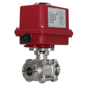 Electric Actuated Motorised Hygienic Ball Valves Stainless Steel FB