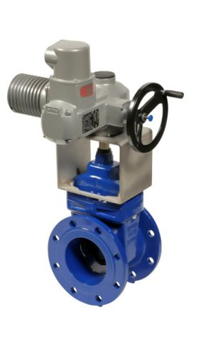 Ductile Iron Electrically Actuated Wedge Gate Valves Manual Override