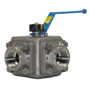 F316 Stainless Steel 3-Way Ball Valves Starline Lever Operated Atex