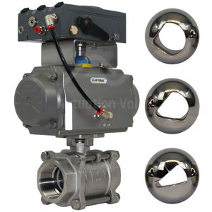 FB 3PCE Stainless Steel V-Ball Sector Flow Control Ball Valves 1000PSI
