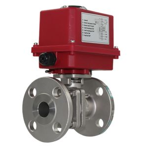 Flanged ANSI150 Full Bore Stainless Steel Electric Actuated Ball Valve