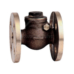 Flanged Bronze Body & Cover Check Valves PN16 Rated Metal Seat Swing
