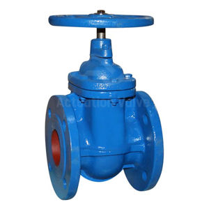 Flanged PN16 Handwheel Operated CI Gate Valves Cast Brass Seat SS Stem