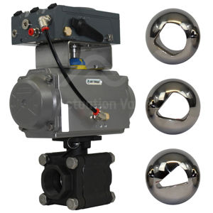 Full Bore Carbon Steel V-Ball Modulating Flow Ball Valves Heavy Duty